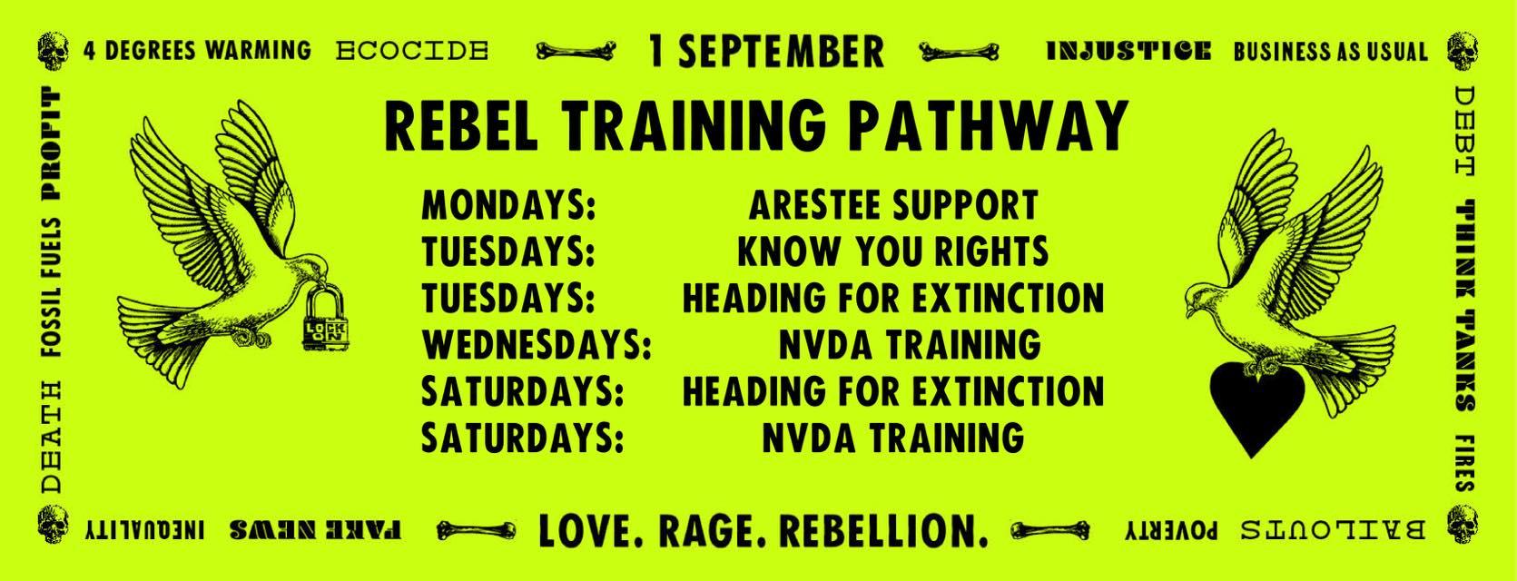 Extinction Rebellion Derby training pathway